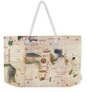 Antique Maps - Old Cartographic Maps - Antique Map Of The World, 1502 Weekender Tote Bag