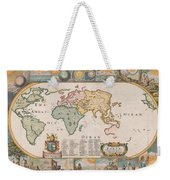 Antique Maps - Old Cartographic Maps - Antique Map Of The World Weekender Tote Bag