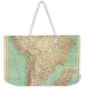 Antique Maps - Old Cartographic Maps - Antique Russian Map Of South America Weekender Tote Bag