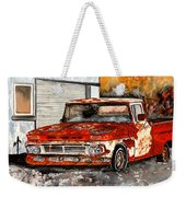 Antique Old Truck Painting Weekender Tote Bag