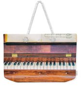 Antique Piano And Music Sheet Weekender Tote Bag