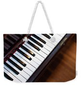 Antique Piano Keys From Above With Hardwood Floor Weekender Tote Bag