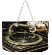Antique Record Player 01 Weekender Tote Bag