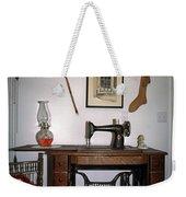 antique Singer sewing machine with treadle Weekender Tote Bag