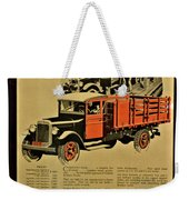 Antique Truck Poster Weekender Tote Bag