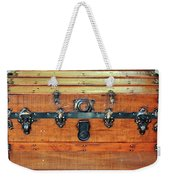 Antique Trunk Weekender Tote Bag