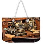 Antique Typewriter Weekender Tote Bag