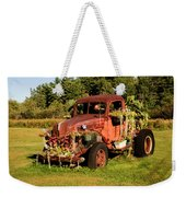 Antique Vehicle As A Planter Weekender Tote Bag