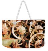 Antique Wagon Wheels And Baskets Weekender Tote Bag