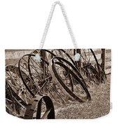 Antique Wagon Wheels II Weekender Tote Bag