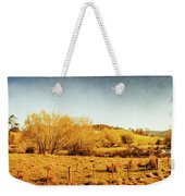 Antique Weathered Countryside Weekender Tote Bag