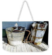 Antique Wooden Buckets Weekender Tote Bag