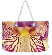Antiqued Iris Weekender Tote Bag