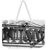 Antiques Store Sign Weekender Tote Bag