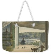 Antiquities By A Balcony Overlooking The Gulf Of Naples Weekender Tote Bag