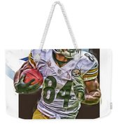 Antonio Brown Pittsburgh Steelers Oil Art 4  Weekender Tote Bag