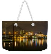 Anzac Bridge By Night Weekender Tote Bag