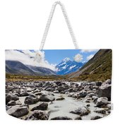 Aoraki Mount Cook Hooker Valley Southern Alps Nz Weekender Tote Bag