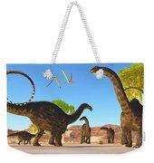 Apatosaurus Forest Weekender Tote Bag