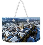 Apiro Italy In The Snow - Aerial Image. Weekender Tote Bag