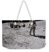 Apollo 16 Astronaut Collects Samples Weekender Tote Bag