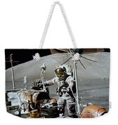 Apollo 17 Astronaut Approaches Weekender Tote Bag