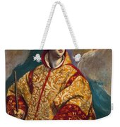 Apparition Of The Virgin To St Lawrence Weekender Tote Bag