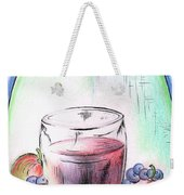Apple And Blueberry Drink Weekender Tote Bag