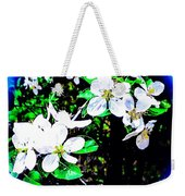 Apple Blossoms In Blue White Mist Weekender Tote Bag