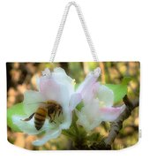 Apple Blossoms With Honey Bee Weekender Tote Bag