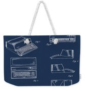 Apple Macintosh Patent 1983 Blue Weekender Tote Bag