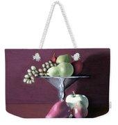 Apple  Pears And Grapes Weekender Tote Bag