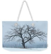 Apple Tree In Winter Fog Weekender Tote Bag