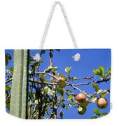 Apple Tree With Apples And Flowers. Amazing Nature Weekender Tote Bag