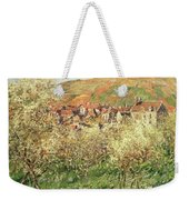 Apple Trees In Blossom Weekender Tote Bag by Claude Monet