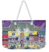 Approaching Dongwu Temple On Chinese New Years Eve Weekender Tote Bag