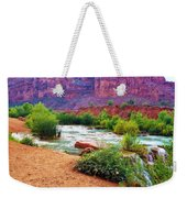 Approaching Navajo Falls Weekender Tote Bag