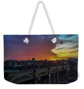 Approaching Storm At Sunset Weekender Tote Bag
