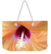 Apricot Hibiscus Flower Weekender Tote Bag