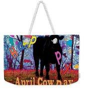 April Cow Day Weekender Tote Bag