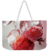 April Ice Storm Apples Weekender Tote Bag