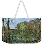 April Willow On Milwaukee River Weekender Tote Bag