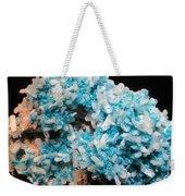 Aqua And White Gemstone Weekender Tote Bag