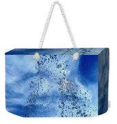 Aqua Art Cube Weekender Tote Bag