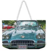 Aqua Blue 1959 Corvette  Weekender Tote Bag