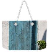 Aqua Door Textures Weekender Tote Bag