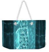 Aqua Drapes Weekender Tote Bag