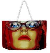 Aqua Eyed Angie Weekender Tote Bag