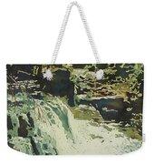 Aqua Falls Weekender Tote Bag