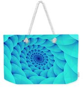 Aqua Pillow Vortex Weekender Tote Bag